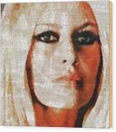 Brigitte Bardot By Mary Bassett Wood Print