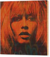 Brigitte Bardot Love Pop Art Wood Print