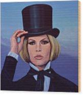Brigitte Bardot Painting 2 Wood Print