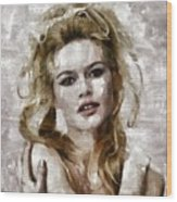 Brigitte Bardot, Vintage Actress Wood Print