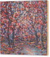 Brilliant Autumn. Wood Print