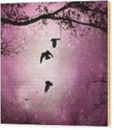 Brilliant Pink Surreal Sky Wood Print