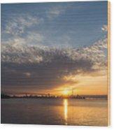 Brilliant Toronto Skyline Sunrise Over Lake Ontario Wood Print