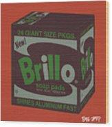 Brillo Box Colored 1 - Warhol Inspired Wood Print