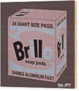 Brillo Box Colored 20 - Warhol Inspired Wood Print