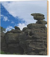 Brimham Rocks Wood Print