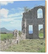 Brimstone Ruins Wood Print