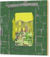 Brimstone Window Wood Print