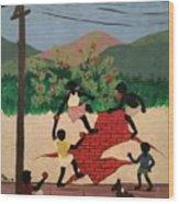 Brincadeiras De Criancas Wood Print