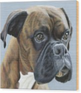 Brindle Boxer Dog - Jack Wood Print