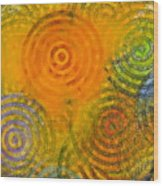 Bring Down Colored Rain Wood Print