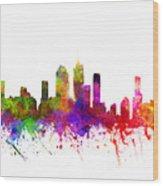 Brisbane Australia Cityscape 02 Wood Print