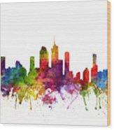 Brisbane Australia Cityscape 06 Wood Print