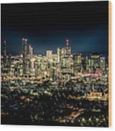 Brisbane Cityscape From Mount Cootha #7 Wood Print