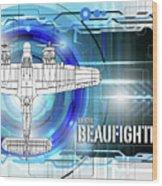 Bristol Beaufighter Blueprint Wood Print