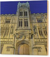 Bristol Guildhall By Night Wood Print