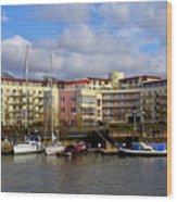Bristol Harbour Appartments Wood Print