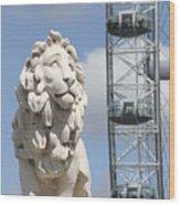 Britannia Lion Wood Print