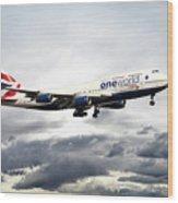 British Airways 747 G-civi Wood Print