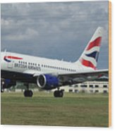 British Airways A318-112 G-eunb Wood Print