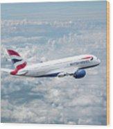 British Airways Airbus A380-841 Wood Print