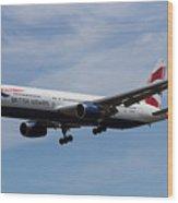 British Airways Boeing 767 Wood Print