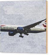 British Airways Boeing 777 Art Wood Print