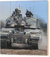 British Army Challenger 2 Main Battle Tank   Wood Print