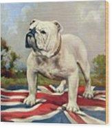 British Bulldog Wood Print