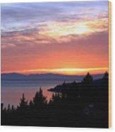 British Columbia Sunset Wood Print