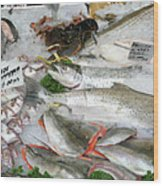 British Fish Market Wood Print