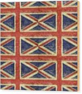 British Flag Collage One Wood Print