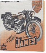 British James Comet Motorcycle  1948 Wood Print