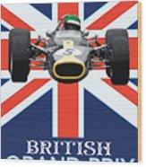 British Lotus Wood Print