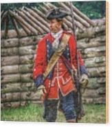 British Officer At Fort Ligonier 1758 Wood Print