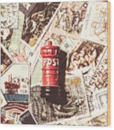British Post Box Wood Print