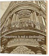 British Relief Quote Wood Print