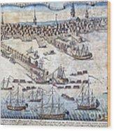 British Ships Of War, Landing Troops Wood Print