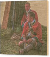British Soldiers In Camp Wood Print