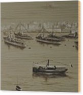 British Warships In Malta Harbour 1941 Wood Print