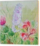 British Wild Flowers Wood Print