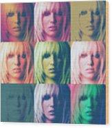 Britney Spears Pastel Warhol By Gbs Wood Print