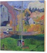 Brittany Landscape Wood Print