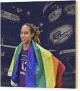 Brittney Griner Lgbt Pride 4 Wood Print
