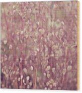 Briza Media Limouzi Decorative Quaking Grass Wood Print