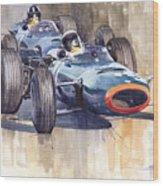 Brm P261 1965 Italian Gp Stewart Hill Wood Print