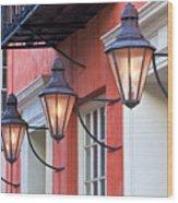Broad Street Lantern - Charleston Sc  Wood Print by Drew Castelhano