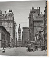 Broad Street Philadelphia 1905 Wood Print