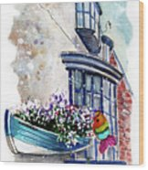 Broadies By The Sea In Staithes Wood Print