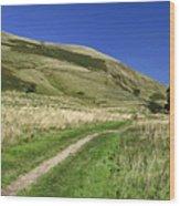 Broadlee-bank Tor From The Pennine Way Wood Print